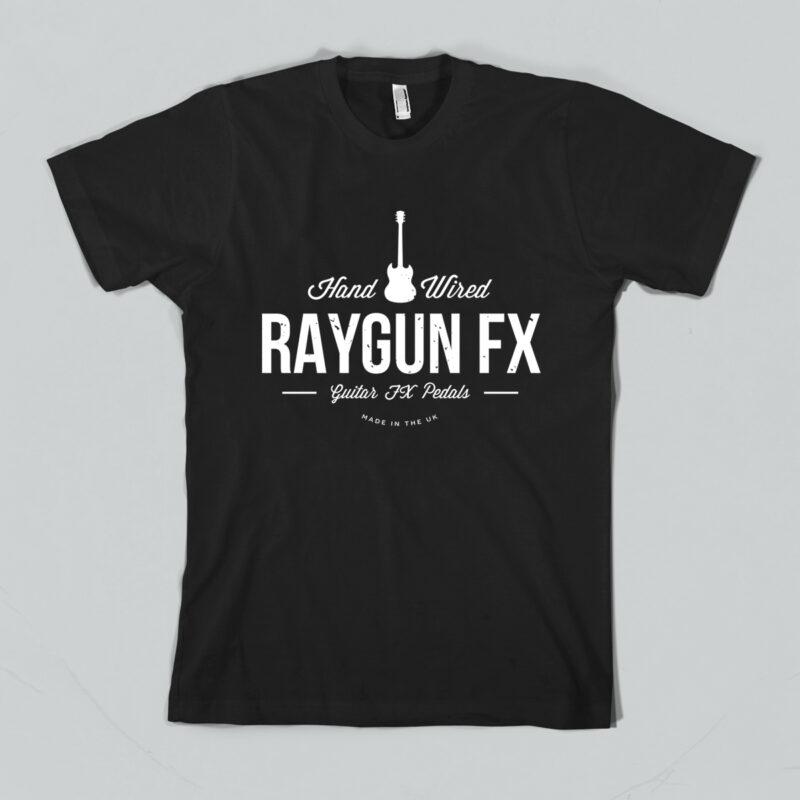 Raygun-black-T-shirt-hand-wired