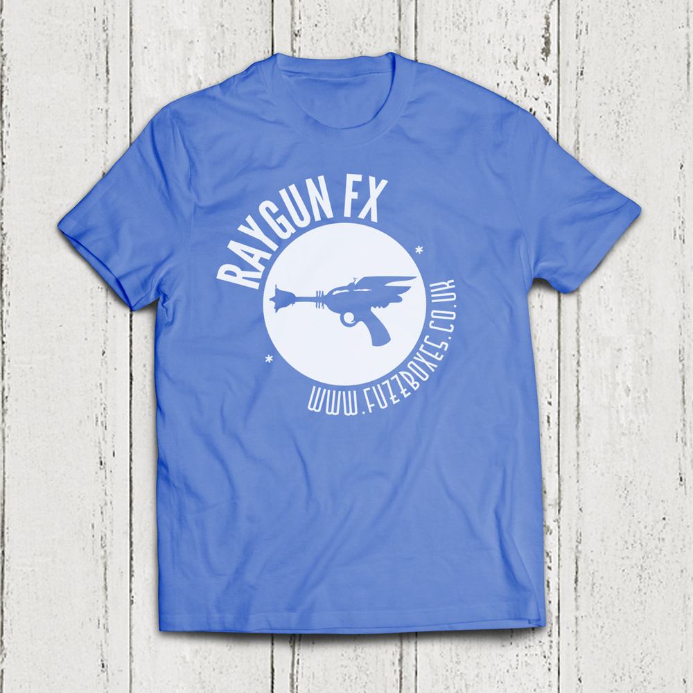 Raygun Fx Gun Logo T Shirt Blue Raygun Fx